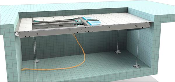 Технология подъемного дна бассейна Tieleman ALLPOOLS
