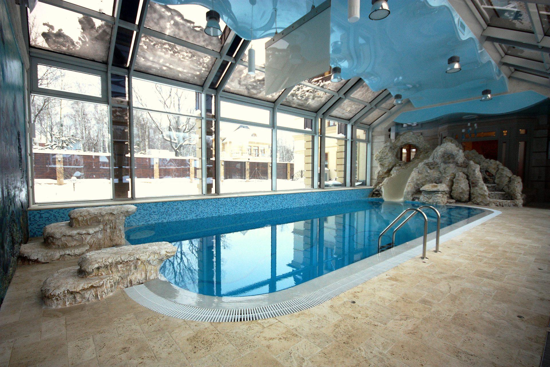 Частный бассейн с морским дизайном интерьера Allpools