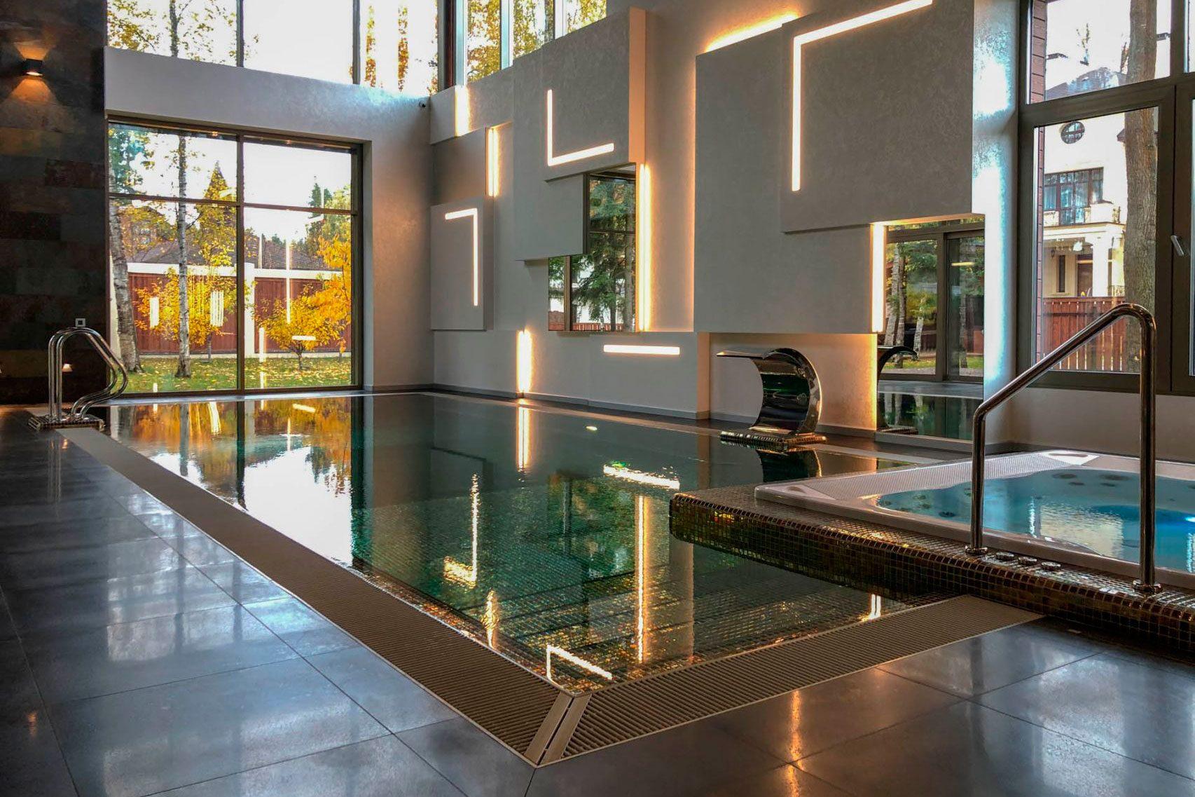 SPA зона в частном доме с бассейном и душем впечатлений Allpools