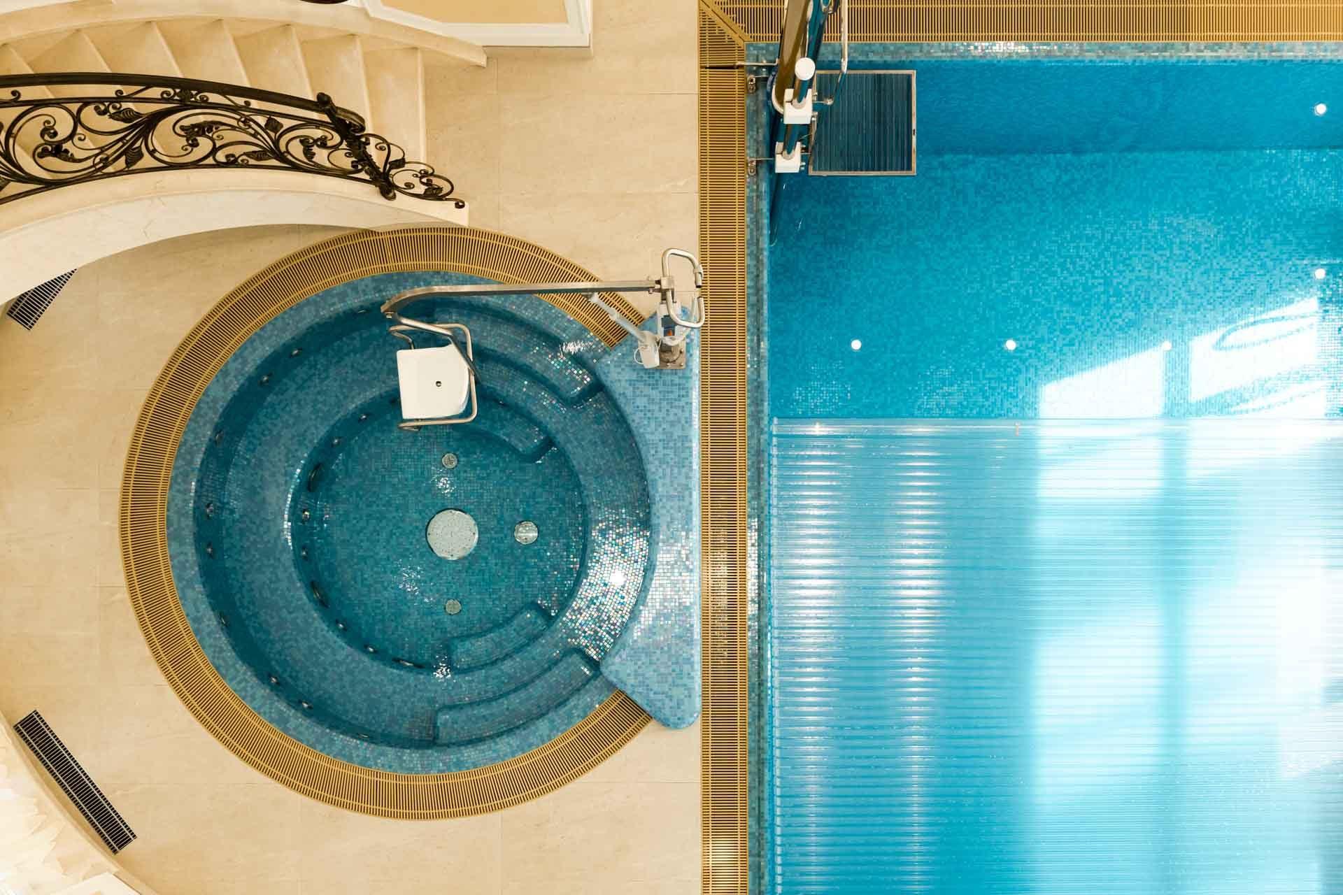 Инклюзивный частный бассейн с гидромассажной ванной Allpools