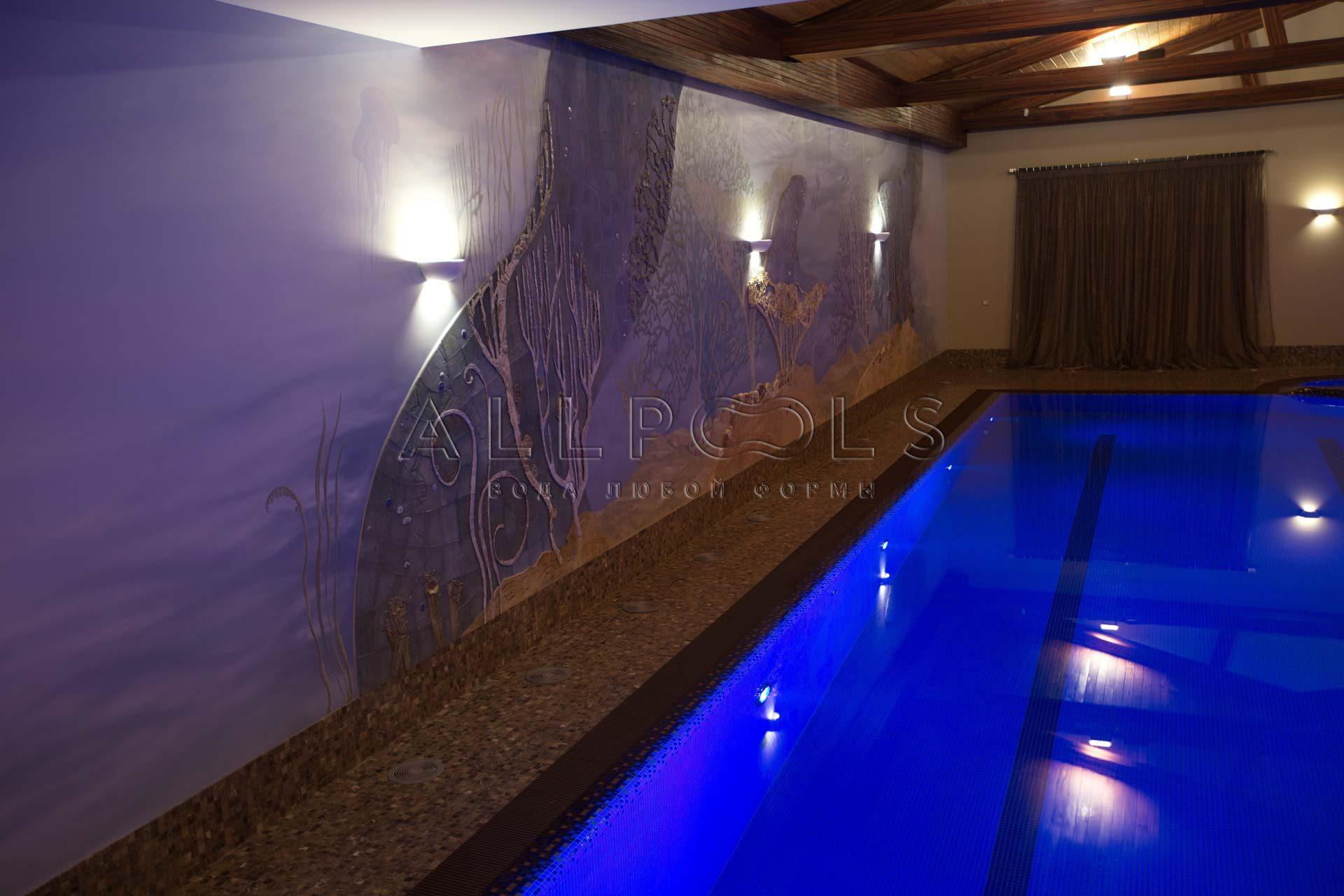 Декоративная отделка в бассейне от Allpools